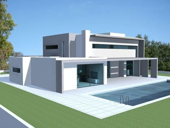 Pin By Senzo On My Dream Cribz Flat Roof House House Exterior Flat Roof