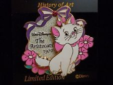 Disney Pin History of Art-The Aristocats Marie 1970 (Sparkle/Glitter/3D) Le