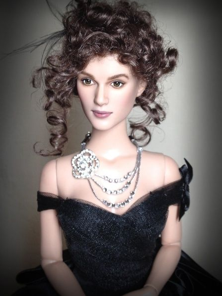 Keira Knightley doll repainted as Anna Karenina in the 2012 Film. Costume by Tonner, necklace and repaint by Shannon Craven www.flutterwing.com