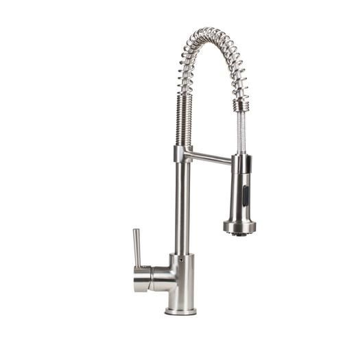 Giagni Arpino Stainless Steel 1 Handle Deck Mount Pre Rinse Handle Lever Residential Kitchen Faucet Lowes Com In 2020 Kitchen Faucet Faucet Faucet Handles