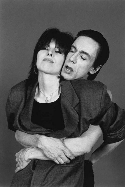 Chrissie Hynde and Iggy Pop, NYC, 1987 by Laura Levine