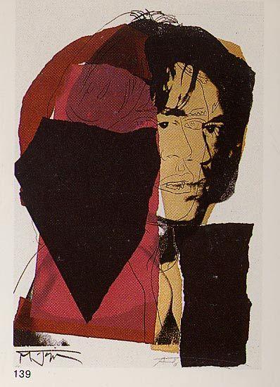 'Mick Jagger' von Andy Warhol (1928-1987, United States)