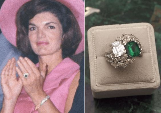 Jacqueline Kennedy Onassis S Engagement Ring Most Expensive Engagement Ring Expensive Engagement Rings Kennedy Engagement Ring