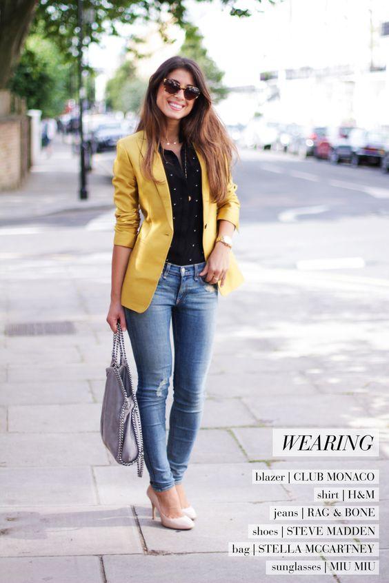 Mimi Ikonn  OOTD: The Golden Blazer