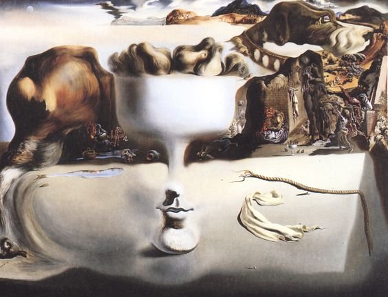 Apparition of Face and Fruit Dish on a Beach - Salvador Dali (1938)