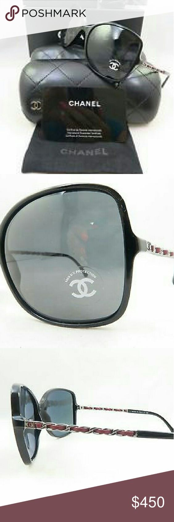 Chanel Polarized Sunglasses New and authentic  Chanel Polarized Sunglasses  Black and red frame  Includes original case, cloth and box Chanel  Accessories Glasses