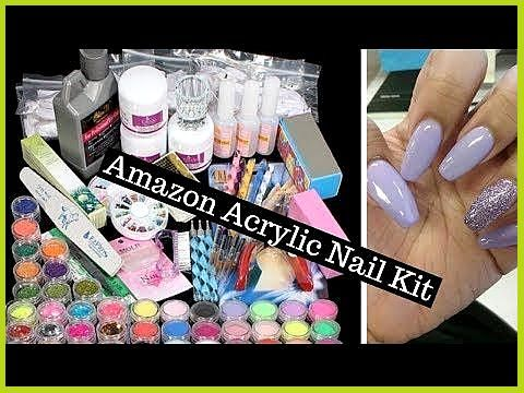 Amazon Acrylic Nail Kit Unboxing Lilymay In 2021 Acrylic Nail Kit Nail Kit Acrylic Nails