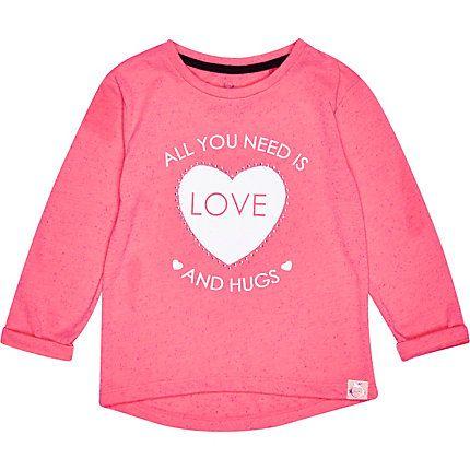 Mini girls all you need is love print t-shirt £8.00