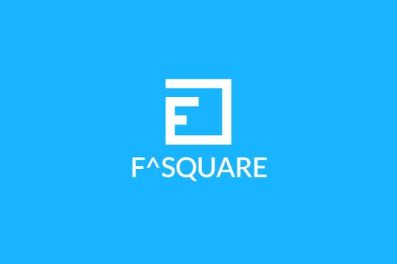 F Square Logo Template