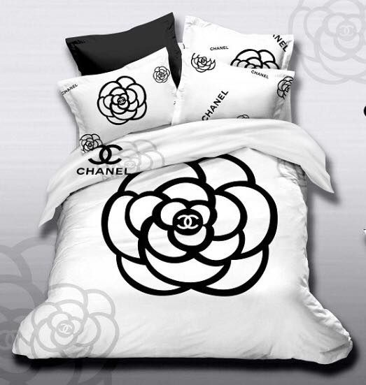 Chanel Black & White  http://www.fierceheelsemporium.com.au/collections/bed-throws-blankets/products/chanel-new-bed-set