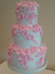 Pink blossom bon bon cake stand for Manor House Hotel Moreton in Marsh