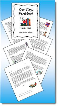 FREE Class Handbook to Customize - Includes Laura Candler's sample handbook in PDF and Word form as well as a cute cover to personalize with your name!