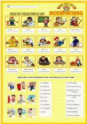 Percent Base Rate Worksheet Pdf English Worksheet Fun With Occupations  Beach  Pinterest  R Blends Worksheets Word with Reducing Fractions Worksheet A Worksheet On Occupations It Is Composed Of Labelling Each Picture And  Matching The Sentence Parts Two Step Equation Worksheet Excel