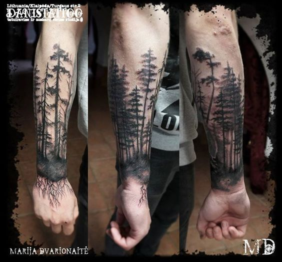 The Forest Is My Throne Forest Tattoos Arm Sleeve Tattoos