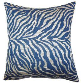 Helaine Zebra Print Throw Pillow