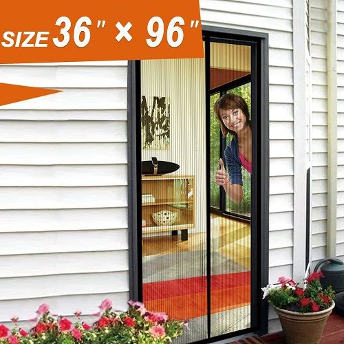 Magnetic Screen Door 36 X 96 Mosquito Door Mesh Magnetic Screen Door Mesh Screen French Door Curtains