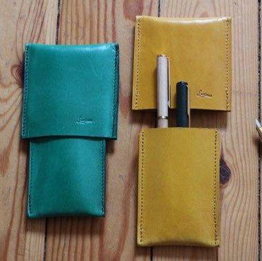 Leather pen case. Originals design Ludena.