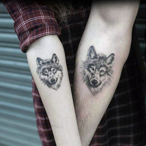 51 Best Matching Couple Tattoos Cool Designs Ideas 2019 Guide Small Wolf Tattoo Wolf Tattoo Sleeve Tattoos