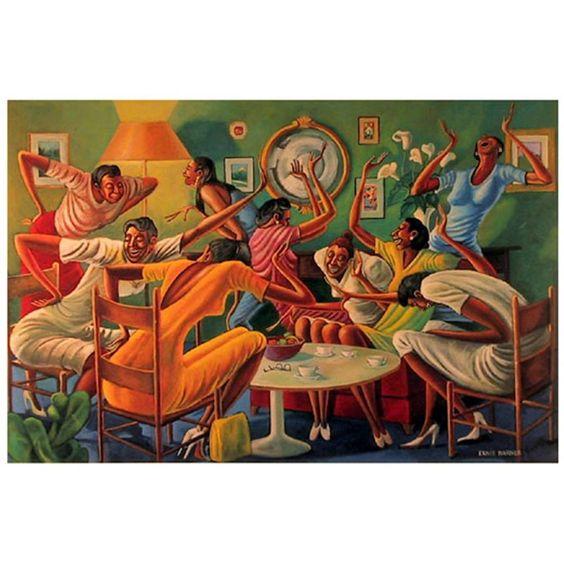 Room Ful'A Sistahs - by Ernie Barnes