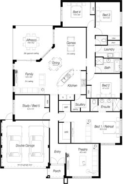 Single Storey House Plans Perth | The Rosewood | Ross North Homes