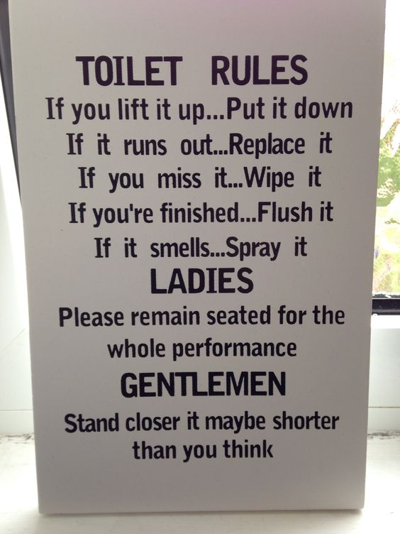 Bathroom Sign Sayings funny bathroom sign i want this sign in my bathrooms lol | for the