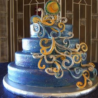 Starry Night Wedding Cake | Starry Night | Pinterest | Night, Cakes ...