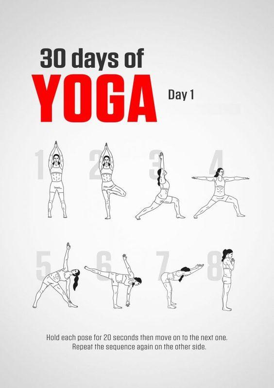 Gewichtsverlust 30 Tage Yoga Herausforderung