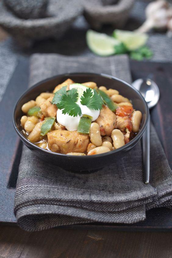 White Bean Chicken Chili: http://www.bobsredmill.com/recipes.php?recipe=6881