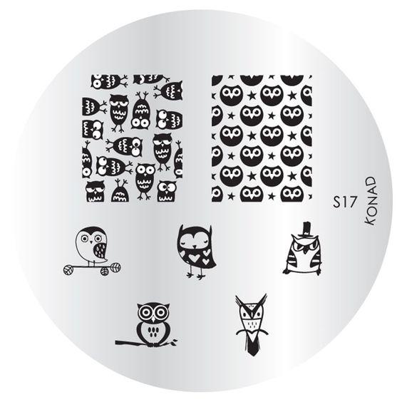 KONAD Stamping Schablone Stempel Eule Eulen Uhu S17 in Beauty & Gesundheit, Maniküre & Pediküre, Nail-Art-Zubehör | eBay