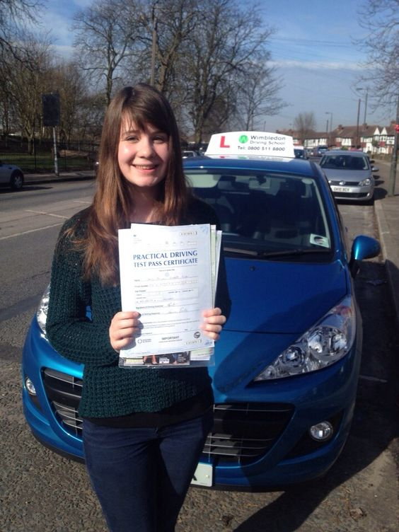 Well done to Abi Turner from Worcester Park who passed her test on Wednesday 5th March at Morden test centre.