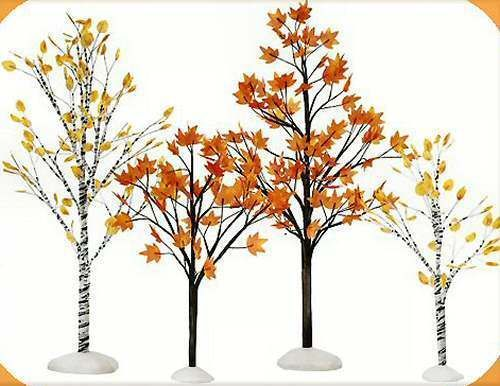 8 inch Department 56 Decorative Accessories for Villages Wintermint Trees Set of 2
