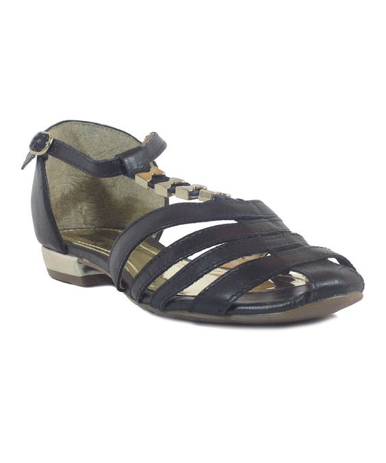 Take a look at this Chelsea Crew Black Label Black Lolipop Leather Sandal today!