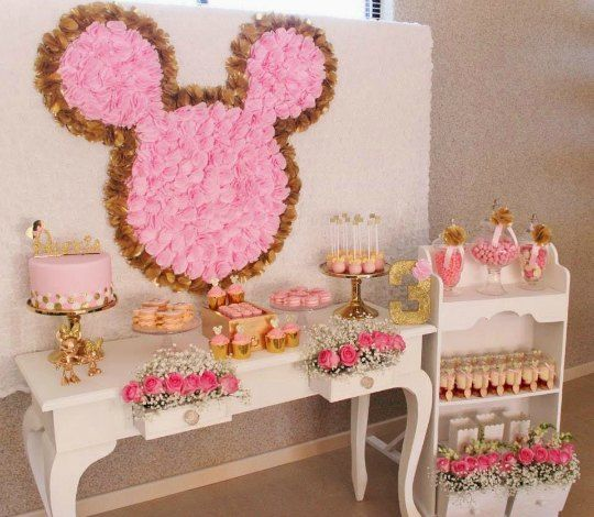 Decoraci n fiesta minnie mouse vintage decoraci n minnie - Adornos de cumpleanos para nina ...
