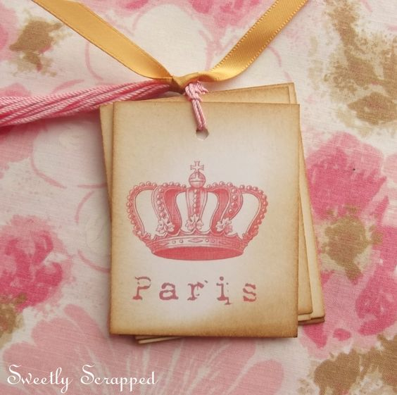 Pink Paris Tags