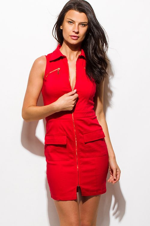 Cute cheap red club dresses
