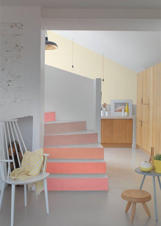 Couleur la peinture d corative et d polluante de zolpan pastel contremar - Couleur escalier interieur ...