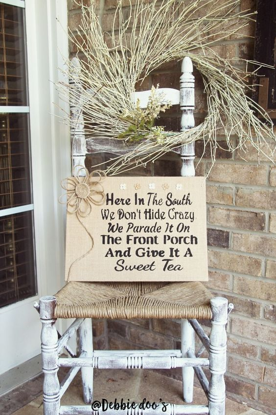Burlap Canvas Art Southern Front Porches And Make Your On