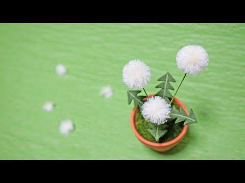 つまみ細工 一越ちりめんでタンポポのふわふわ綿毛を作る 鉢 お部屋飾りに 作り方 インテリア diy vol 49 youtube つまみ細工 細工 つまみ細工 かんざし