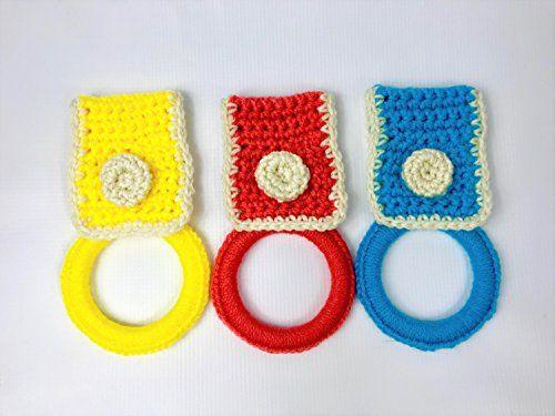 Gift Set ~ Tea Towel with 3 Handmade Crochet Dish Scrubbies