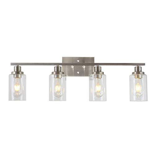 Minka Lavery Bridlewood Stone Grey With Brushed Nickel Three Light Bath Vanity 22 5 Wide 9 High Bathroom Light Fixtures Minka Lavery Bathroom Vanity Lighting