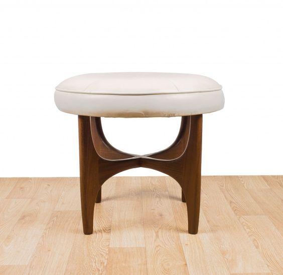 G plan dressing table piano stool teak fabric mid