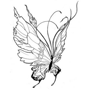 Papillons tatouages de papillon and papillons on pinterest - Tatouage papillon noir et blanc ...