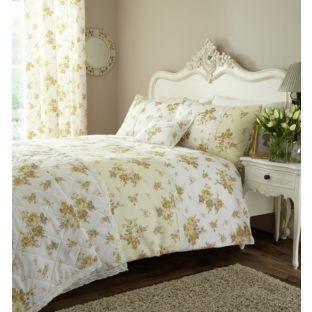 buy catherine lansfield annabella lemon duvet cover set. Black Bedroom Furniture Sets. Home Design Ideas