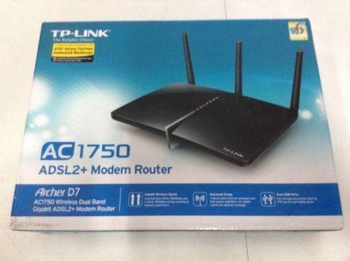 TP-LINK Archer D7 AC1750 Wireless Dual Band Gigabit ADSL2 Modem Router
