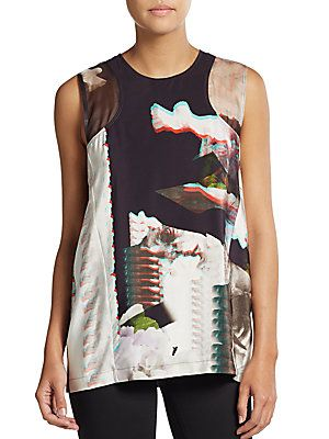 Emory 3D Silk Top - SaksOff5th
