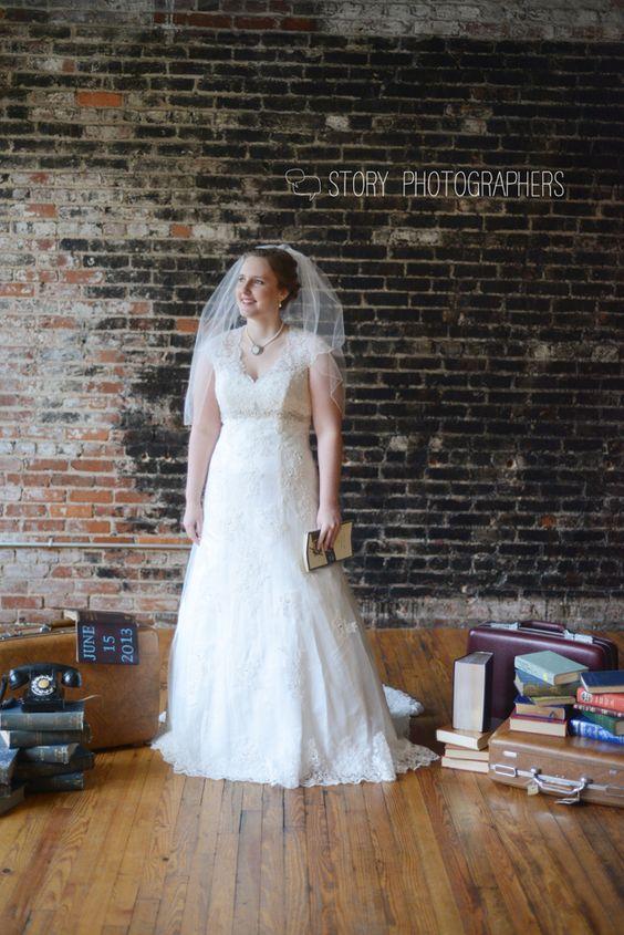 book themed bridal shoot