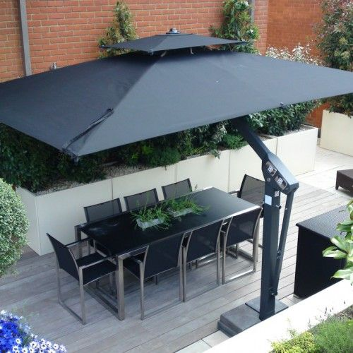 Cantilever Patio Umbrella, Large Tilting Patio Umbrella