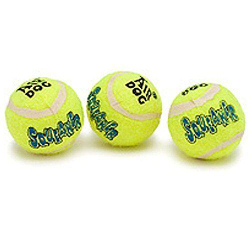 Air Kong Dog 3 Medium Squeaker Tennis Balls Squeaky Toy For