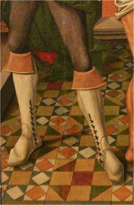 Finales del XV. La flagelación, Maestro de Salomón de Fromista, Museo de la Iglesia de San Pedro, Palencia (detalle) (imagen de Miguel Cortés):
