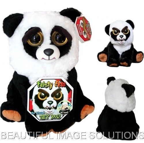 Feisty Pets Stuffed Panda Bear Turns Feisty Growls With Squeeze Best Selling Toy Panda Bear Pets Bear